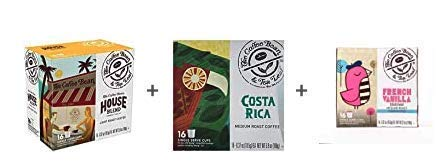 The Coffee Bean & Tea Leaf Single-Serve 48 Count K-Cup Bundle with House Blend Light Roast, French Vanilla Medium Roast…