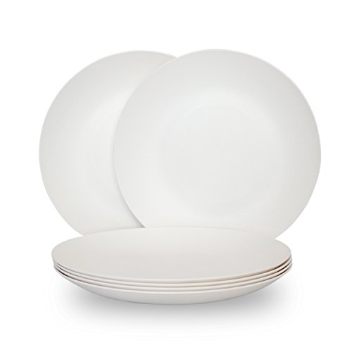 (Coza Design- Unbreakable and Reusable Plastic Plate Set- BPA Free- Set of 6)