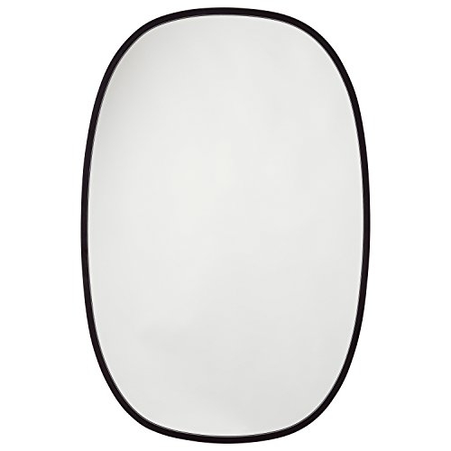 Rivet Modern Glass Mirror, 42