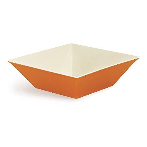 - G.E.T. Keywest Square Melamine Bowl 12.8 Qt Sunset Orange