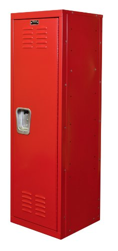 Hallowell Kid Locker, 15''W x 15''D x 48''H, 721 Relay Red (red), Single Tier, 1-Wide, Knock-Down by Hallowell