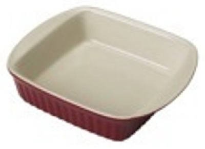 Good Cook 2 Quart Square Ceramic Dish, Red