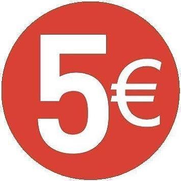 20 /€ Euro Packung zu 200 St/ück 13mm Rot Price Stickers