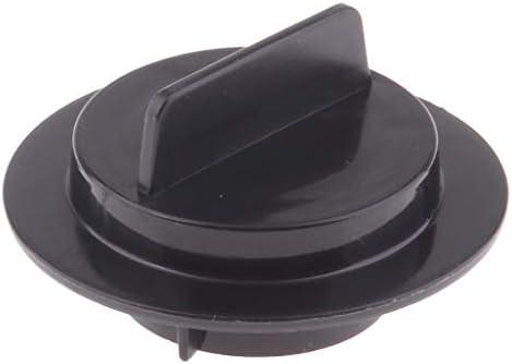 B Blesiya Black Car Vehicles Plastic Petrol Fuel Gas Can Stopper Cap Round Shape