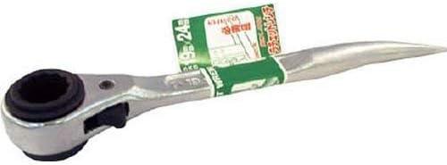 スーパー 薄型曲りしの付・両口ラチェットレンチ(爪式)ショートタイプ SRB1924Z