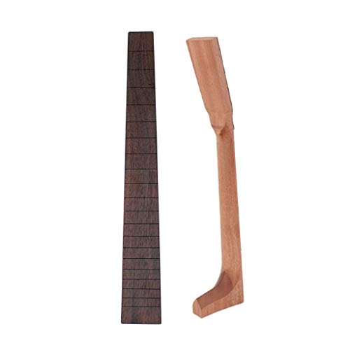 - Flameer DIY Acoustic Guitar Neck Mahogany Neck + Rosewood 20 Frets Fingerboard for Luthiers Supplies