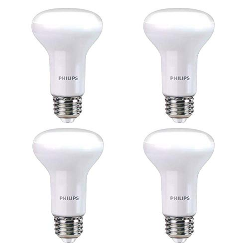 (Philips 456995 45W Equivalent Soft White R20 Dimmable with Warm Glow Light Effect LED Light Bulb 4 Pack)
