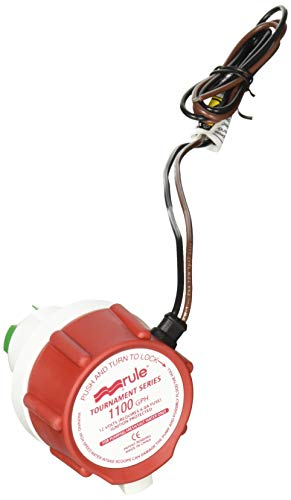 Rule 47DR, Replacement Motor Cartridge for Tournament Series Livewell Pumps, 1100 GPH, White/Red