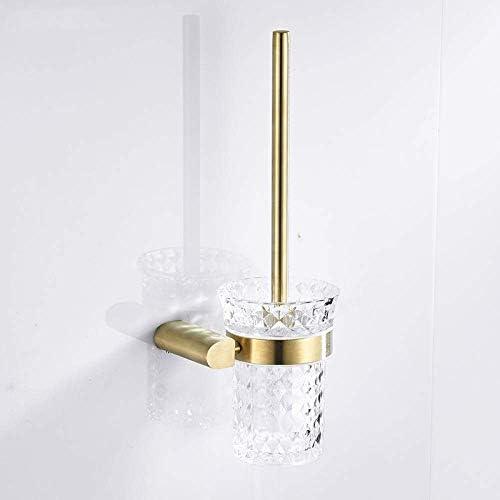 CLJ-LJ つや消しゴールドのトイレブラシステンレス鋼のトイレブラシホルダーセットウォールは、トイレブラシホルダー家庭用浴室ハードウェアをマウント