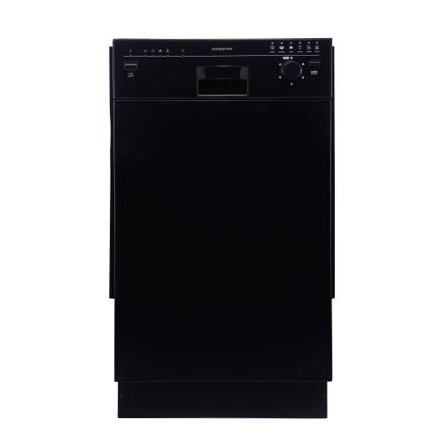 EdgeStar BIDW1801BL Black 18 Inch Wide 8 Place Setting Energy Star Rated Built-In Dishwasher