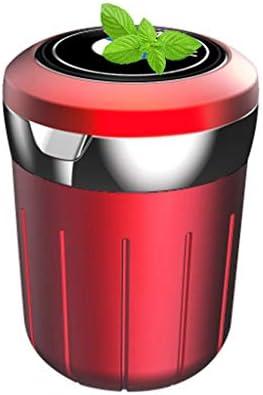 車の灰皿多目的、BMWとの互換性、ふた付きすす収納缶車内旅行 (Color : 赤)