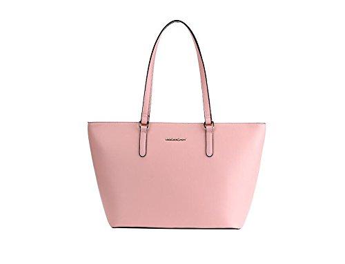 24cc3703f Mujer Grandes Negras Capacidad De La Landona Moda Hombro Solo Bolso Bolsos  Señoras Pink Bolsas Bolsas ...