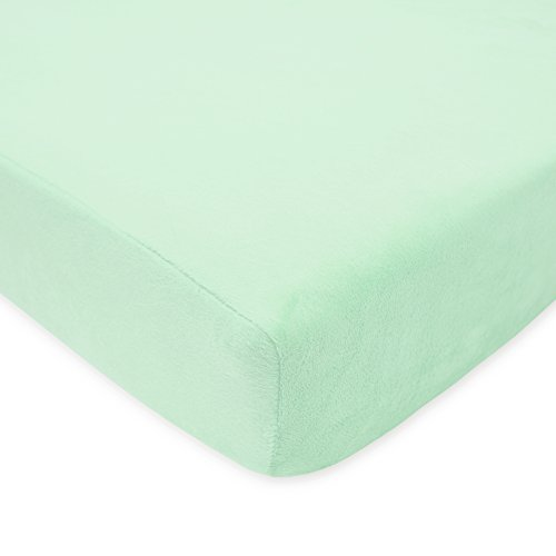 American-Baby-Company-Heavenly-Soft-Chenille-Fitted-Crib-Sheet-Mint