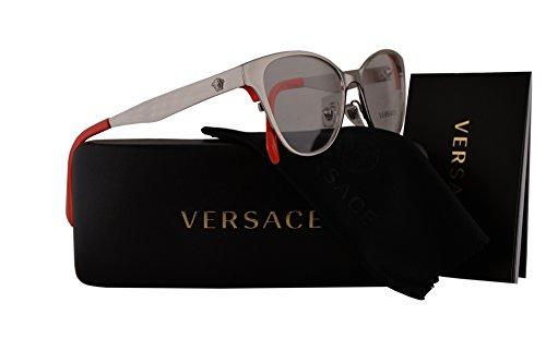 Versace VE1245 Eyeglasses 53-16-140 Silver w/Demo Clear Lens 1000 VE - Frames Versace Eyeglass Cheap