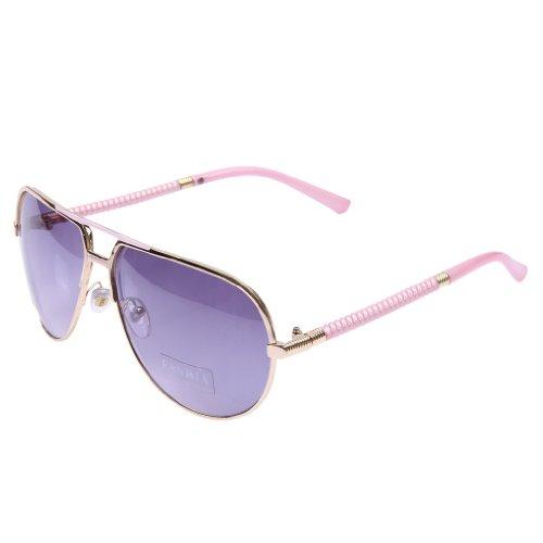 b41b2e86042 free shipping Fandia Aviator Style Sunglasses Metal Frame Colored Lens Uv  Protection