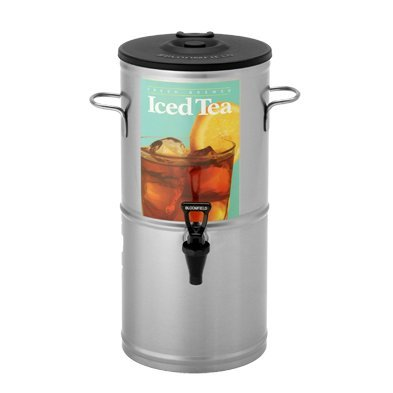 Bloomfield 8802-5G Iced Tea Dispenser with Handles, 5-Gallon, Stainless Steel, 10 3/8