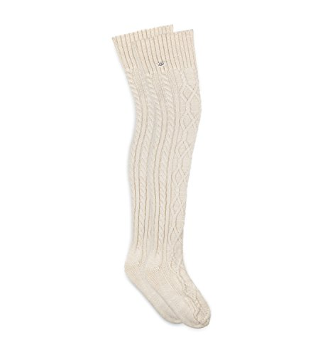 UGG Womens Slouchy Speckle Thigh High Socks in Cream O/S W US