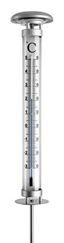 TFA Dostmann Gartenthermometer mit Solarbeleuchtung 12.2057