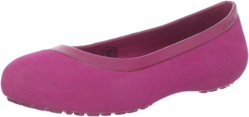 Crocs Women's Mammoth Lined Flat Pomegranate/Pomegranate hKuph6R