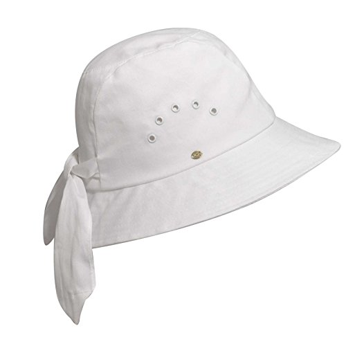(Betmar Knotted Cloche, White, One Size Fits Most)