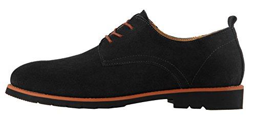 Nuevo Negro Diseño 2017 de de de Zapatos Gamuza de Oxford Hombre de 7b2a42