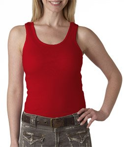 Bella+Canvas Ladies' Baby Rib Tank Top - Red - M