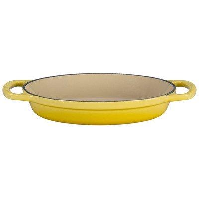 Yellow Oval Baking Dish - Le Creuset Enamel Cast Iron Signature Oval Baker, 3 quart, Soleil