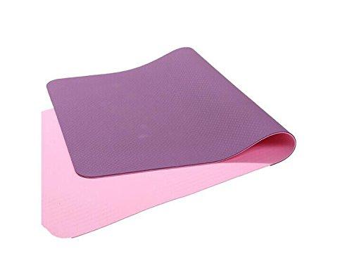 YOOMAT Sport Outdoor Yogamatte Weibliche Verstärkung und Verlängerung Anfänger Rutschfeste Fitness Yogamatte Baumwolle, Größe: 183 cm X 80 cm X 8 mm