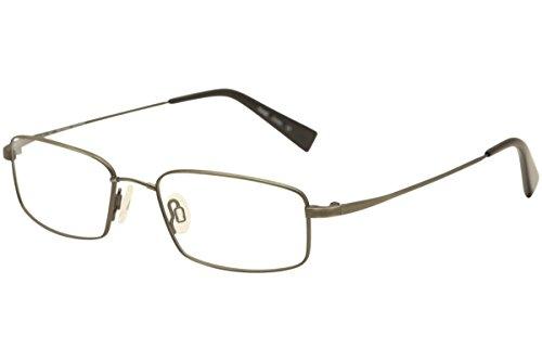 Flexon Eyeglasses Memory Metal Titanium Brushed Pewter Reading Glasses - Flexon Eyeglasses