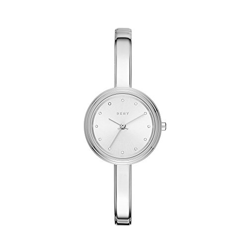 DKNY Women's 'Murray' Quartz and Stainless-Steel-Plated Casual Watch, Color:Silver-Toned (Model: NY2598)