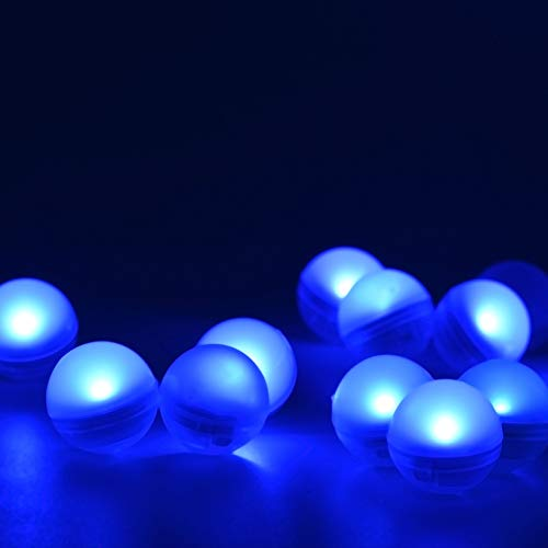 KITOSUN Magical Light Berry LED Ball Floating LED Vase Light Firefly Effect Glowing Pearl with Battery 3/4 diamter for Baby Shower Wedding Centerpiece Floral (Pack of 12) (Blue)