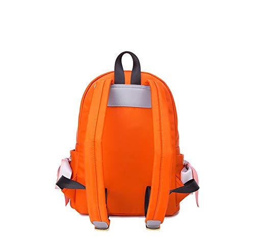 Portés Orange À Sac Sport Dos Dos Toile Sacs Mesdames JIUSHIGUANG Vent Mode Étudiant Loisirs Collège Scolaire pxwZY5qUXn
