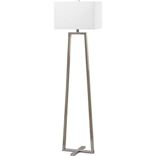 Safavieh Lighting Collection Lyell Nickle 60-inch Floor Lamp -