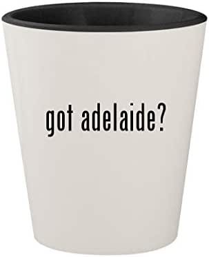 got adelaide? - Ceramic White Outer & Black Inner 1.5oz Shot Glass