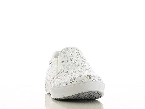 Oxypas Nieuwe Mode Professionele Schoen Comfortabeler Sneaker Nadine Van Leer Antistatisch (esd) In Vele Kleuren Witbloeiende (mok)