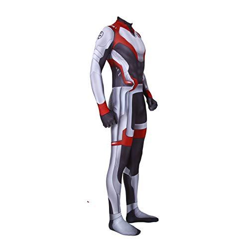 Unisex Lycra Spandex Zentai Halloween Avengers Endgame Quantum shirt Cosplay Costumes Adult/Kids 3D Style (Kids-M) Black and White]()