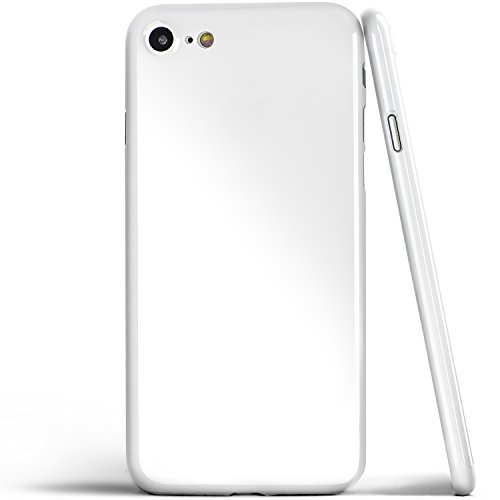 totallee iPhone 8 Case, Thinnest Cover Premium Ultra Thin Light Slim Minimal Anti-Scratch Protective - for Apple iPhone 8 The Scarf (Jet White)