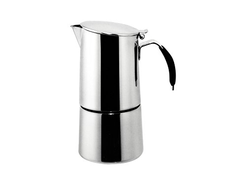 "Ilsa: Coffee Maker ""Omnia Express"" For Induction - Inox 18/10 4-Cup [ Italian Import ]"
