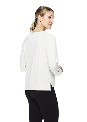 Gaiam Womens Pullover Long Sleeve Yoga Shirt - Activewear Top w/Strappy Open Back Options