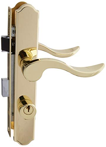 NATIONAL MFG/SPECTRUM BRANDS HHI S843-342 Lock Set, Polished Brass (Swing Door Handle)