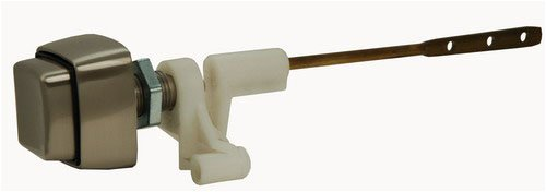 Toilet Tank Lever, Push-button Type, Side Mount, Satin Nickel Finish, By Plumb USA by PlumbUSA