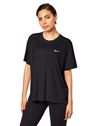 Nike Women's Plus Size Miler Running T-Shirt (Black, 2X)
