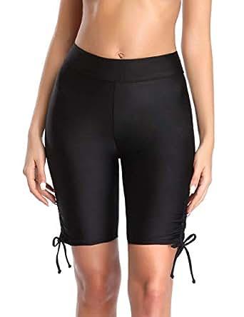 Amazon.com: YILISA Womens Swim Shorts Long Board Shorts