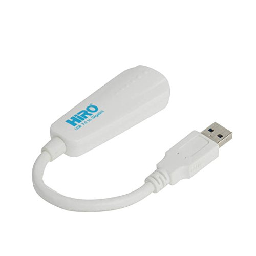 HiRO H50315 USB 3.0 to Gigabit Ethernet LAN 10 100 1000 Mbps Portable Network Adapter Windows 10 8.1 8 32-bit 64-bit Plug n Play Native Driver No Installation Needed Windows 7 Compatible