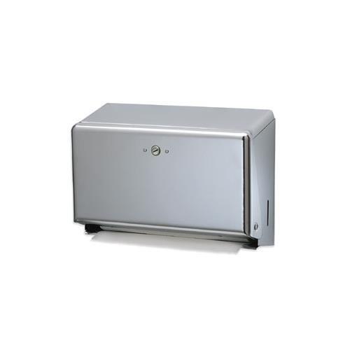 San Jamar T1950XC Mini C-Fold or Multifold Paper Towel Dispenser SJMT1950XC
