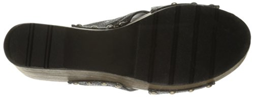 Sandal Black Leather Wedge Women's Callisto Cinamon 4fqtXwq1