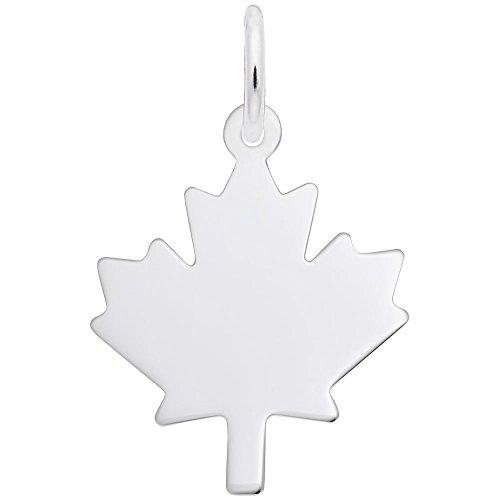 Rembrandt Charms, Maple Leaf.925 Sterling Silver, Engravable