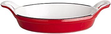 Casting Concha roja Ovalada 21x16x4 con 2 Mangos