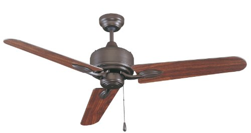 Royal Pacific 1011OB Sao Paulo 3-Blade 52-Inch Ceiling Fan, Oil Rubbed Bronze with Walnut Blades