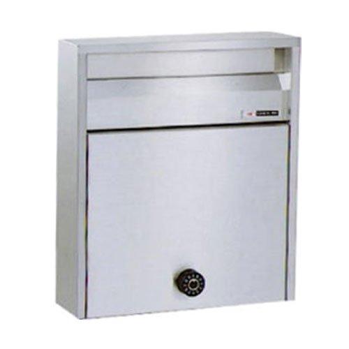 郵便ポスト ハッピー金属 ファミール680-UK 壁掛け式ポール式 前入れ前出し ダイヤル錠 B06WWL65SF 23350